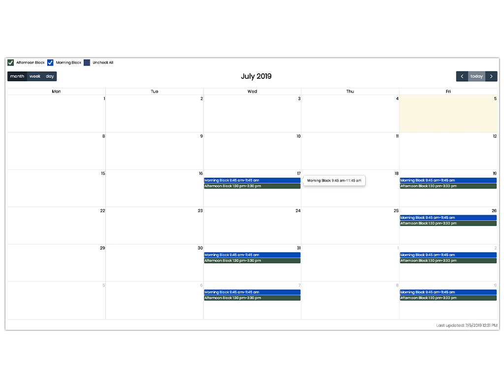 Calendar Builder - Easily and flexibly organize your events.